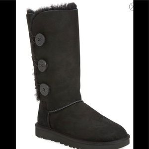 UGG Bailey Triple button sheepskin lined tall boot